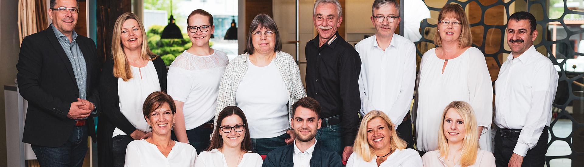 Ein Teil des Teams der WEKUmat Küchenwerk Werner Kühn e.K.