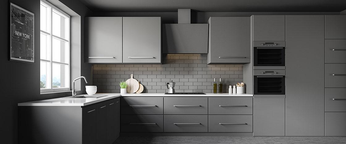 Moderne dunkle smart Kitchen