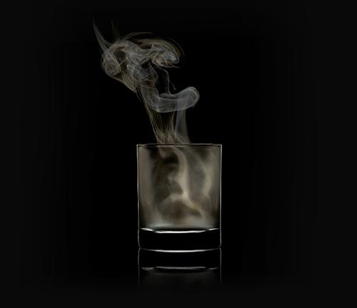 Nebel in einem Glas